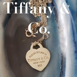 "Tiffany & Co. Silver Heart Pendant 16"" Necklace"